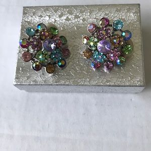 ⭐️NEW LIST⭐️TWO PAIRS of RHINESTONE CLIP EARRINGS